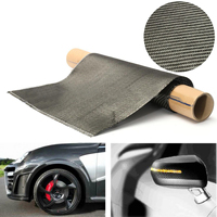 3K Black Carbon Fiber Cloth Fabric Twill Weave Tape 36x91cm For Car Bicycle Decoration