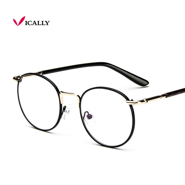 36c2187b05 Vintage Metal Glasses Frame Women Round Glasses Woman Classic Optical  Fashion Glasses Frame Eyeglasses Oculos Gafas