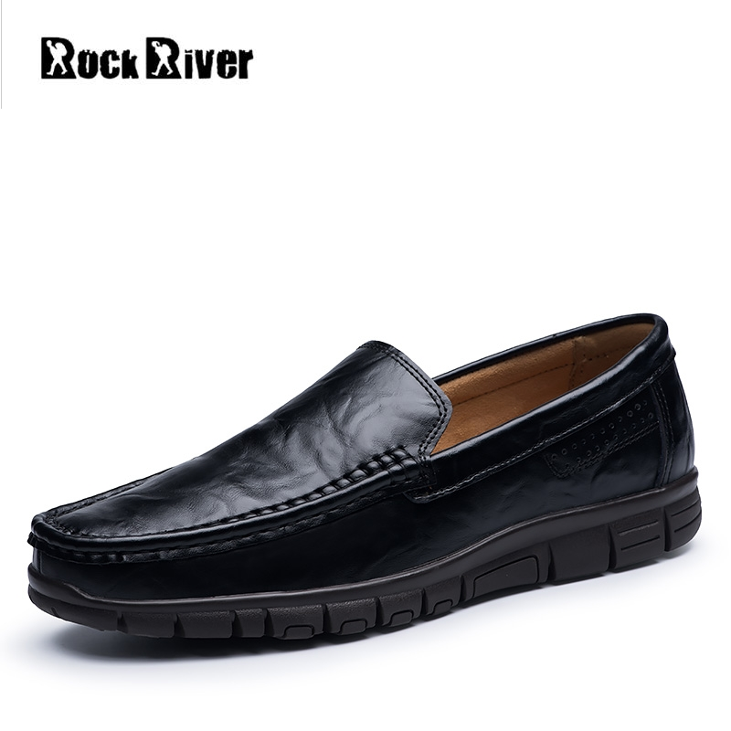 2018 Men Shoes Genuine Leather Flats Slip On Luxury Formal Business Casual Leather Loafers Moccasins Shoes Men plus size 38-47 branded men s casual crocodile genuine leather shoes fashion slip on penny loafers men s business step in boat shoes moccasins