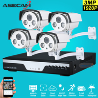 Best 4 Channel 1920p CCTV Camera 4ch DVR AHD 3MP Home Outdoor Array Security Camera System