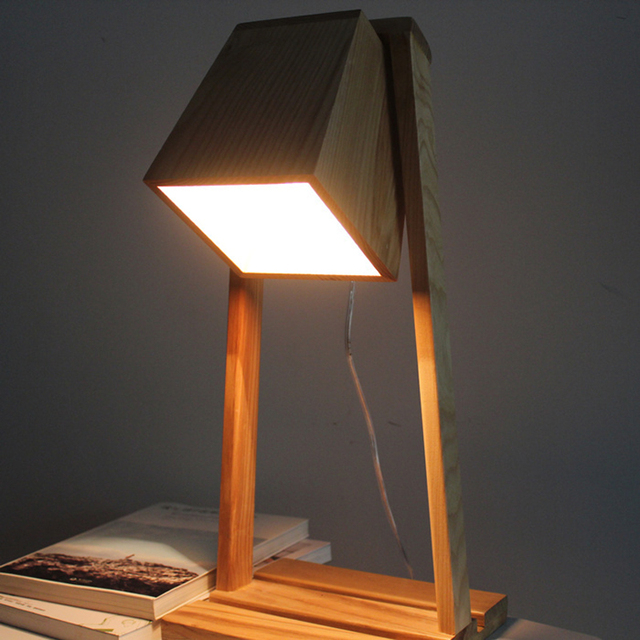 Charmant Scandinavia Style Tabletop Decorative Lamp, Solid Wooden Bedroom Lamp MZ55  LU1019