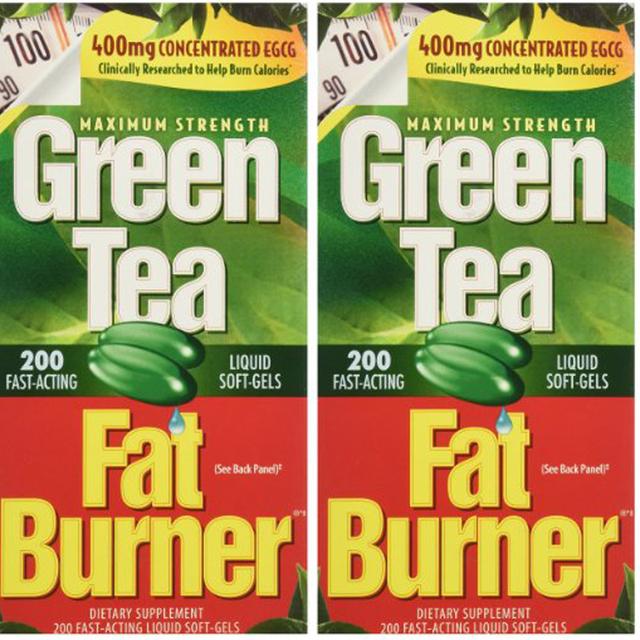 EUA Verde Chá Queimador de Gordura Suplemento Dietético 400 mg Fast-Acting Líquido Soft-Gel (Pack de 2) 400CT frete grátis
