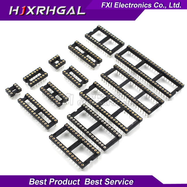 10PCS Round Hole IC socket Connector DIP 6 8 14 16 18 20 24 28 40 pin Sockets DIP6 DIP8 DIP14 DIP16 DIP18 DIP20 DIP28 DIP40 pins