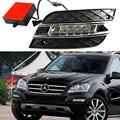 Car DRL kit For Mercedes-Benz W164 ML280 ML300 ML350 ML320 ML500 2010 2011 LED Daytime Running Light bar daylight lamp car drl