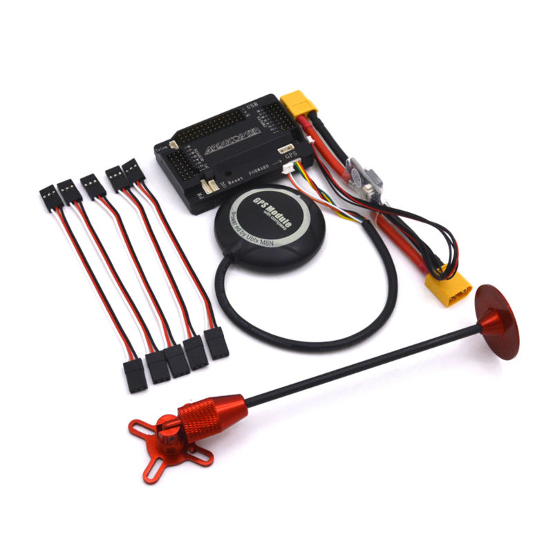 Top Fashion Rc Car Fpv Camera Servo Apm 2.6 +neo-m8n Flight Controller Gps Module With Shell For 2.5 With Ube cuav u blox neo m8n high precision gps module for pixhack pixhawk apm flight controller for rc aircraft spare parts accessories
