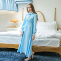 Fashion Women Cotton Nightgowns Spring Home Dress Long Sleepwear Nightdress Loose Comfortable Sleepshirts for Girls Women 16031