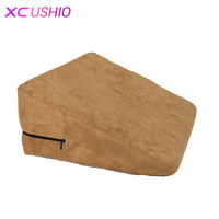 New Brown Sofa Hold Pillow Pad Sex Toys For Adult Game Triangle Shaped Sponge Pad Adult
