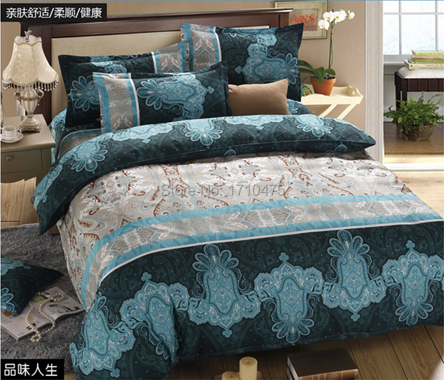 Retail dubai bed sheet set blue dobby king size fitted bedspread