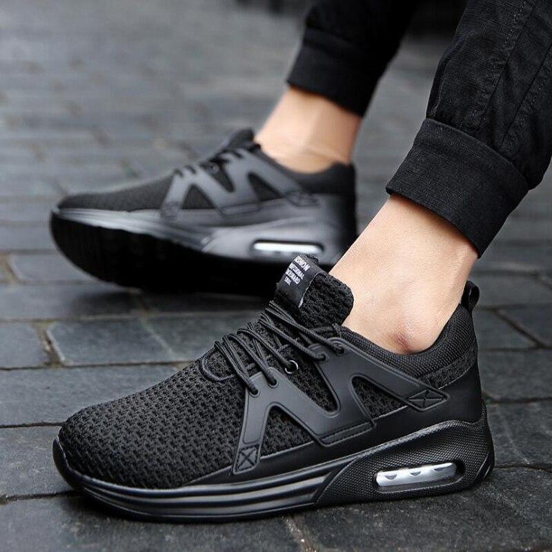 Qualité 2018 Sneakers rouge Noir Casual Printemps Zapatillas Haute Hommes Mesh Hombres Respirant Chaussures poids Mode blanc Lumière dq4xFpt