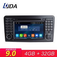 LJDA 2 Din Android 9.0 Car Radio For Mercedes Benz ML CLASS W164 ML350 ML300 Car Multimedia Player Stereo Audio GPS DVD WIFI IPS