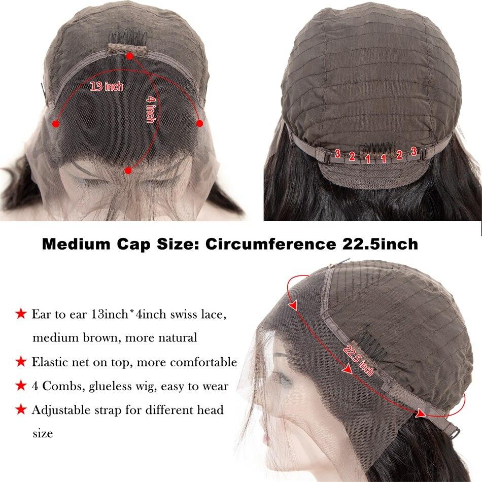 Soul Lady Кружевные передние человеческие волосы парики перуанские объемные волнистые кружевные передние парики предварительно выщипанные с ... - 5