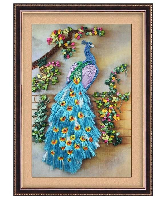 Christmas Gift Hot Silk Ribbon Embroidery Cross Stitch Kit