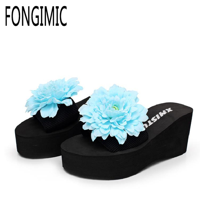 0f28dbd6db181 Summer New Arrival Women Slippers Bohemia Floral Shoes Comfortable Slippers  Good Quality Cool Ocean Beach Wedges Vacation Shoes
