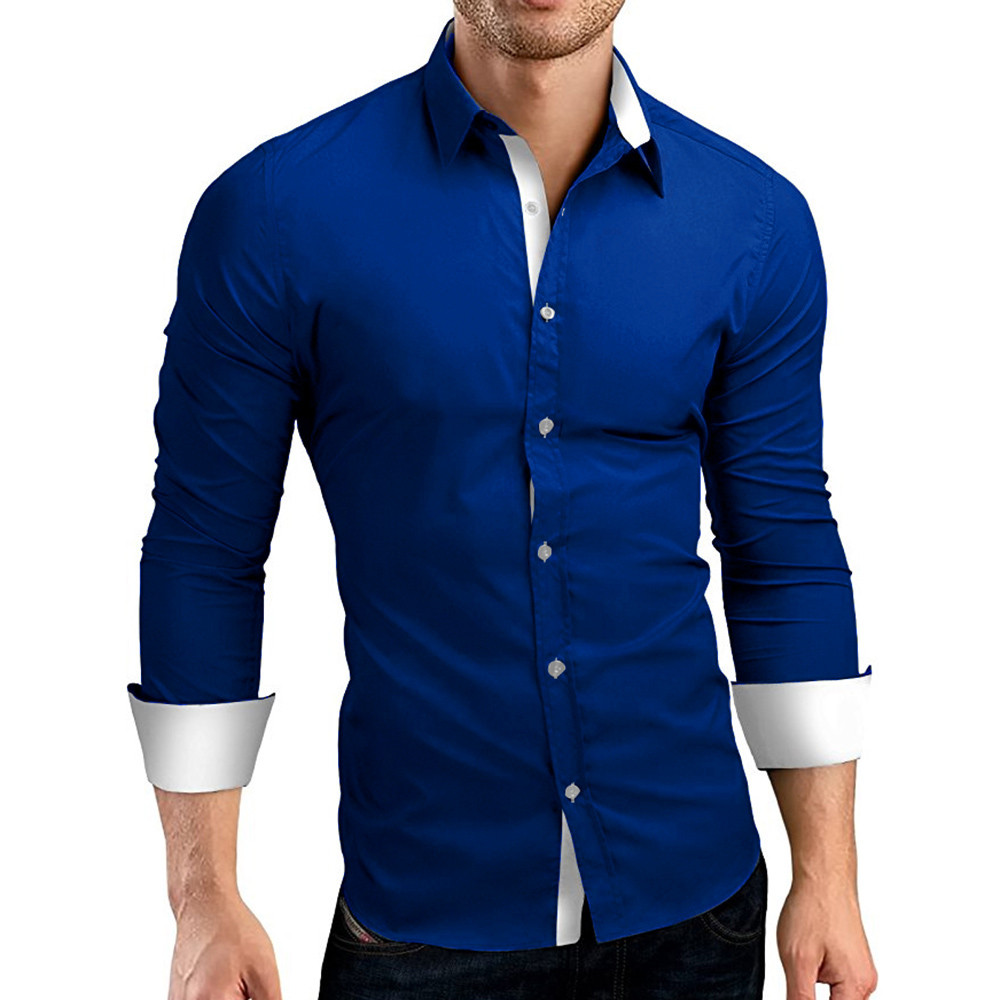 HTB1fFpFhwTqK1RjSZPhq6xfOFXag - #4 DROPSHIP 2018 NEW HOT Fashion Men's Autumn Casual Formal Solid Slim Fit Long Sleeve Dress Shirt Top Blouse Freeship