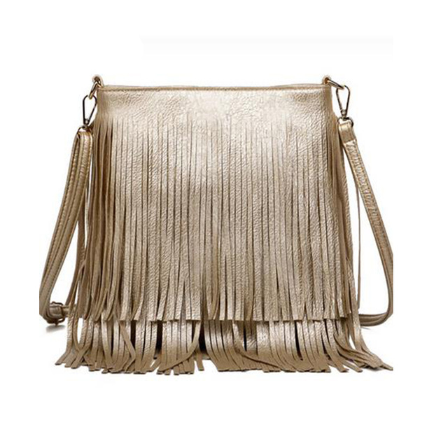New Fashion Fringe Bag Gold Crossbody Bags Classic Women Shoulder Casual Tote With Tassels Messenger