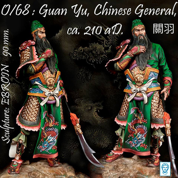 1/20 Guan Yu Chinese General Romance of the Three Kingdoms Ancient historical figures Resin Figure GK Uncoated No colour