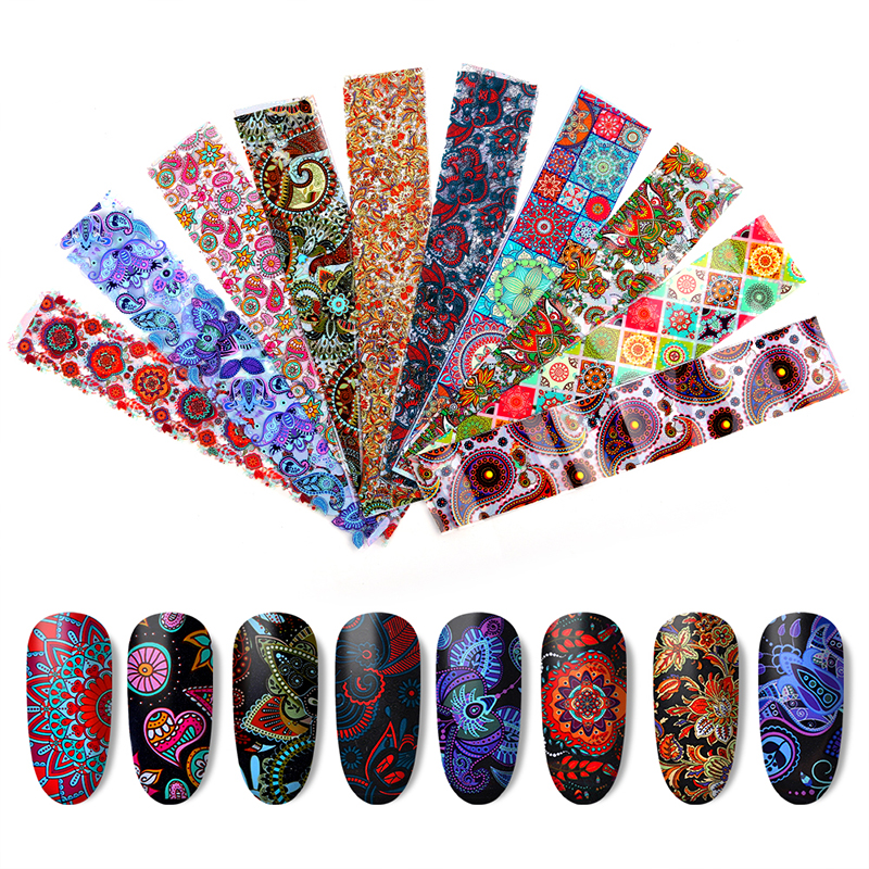 27 Styles Colorful Starry Paper Transfer Foil Wraps Non-sticky Nail Decoration Holographic Set DIY Sticker