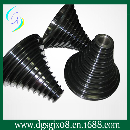 coating ceramic step cone  pulley /wire drawing capstan/cone pulley coating ceramic pulley for wire drawing machine