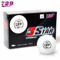 卸売リンク-60ボール729友情40 +シームレス3つ星卓球ボールプラスチックピンポン玉ittf承認