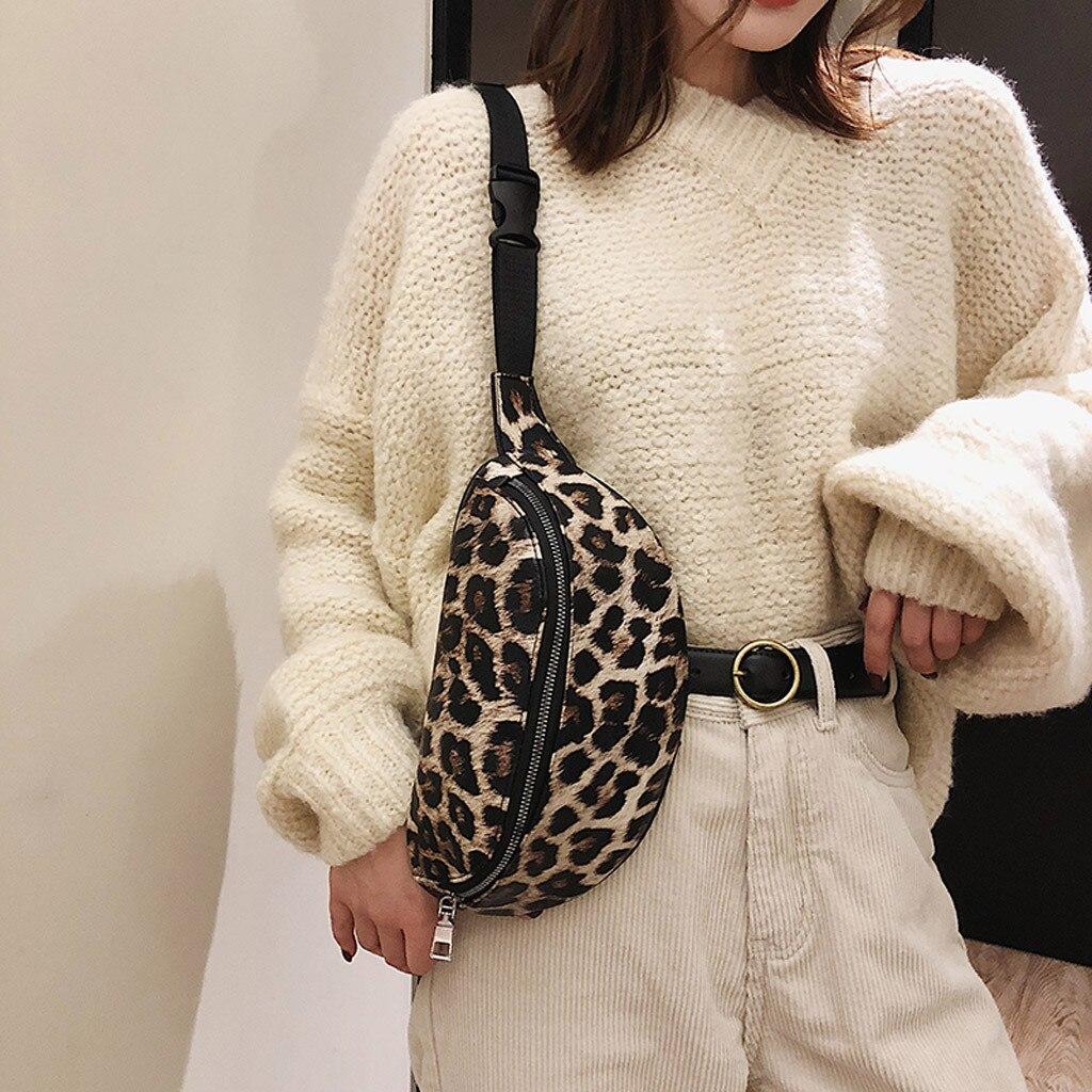 Sleeper #501 2019NEW FASHION Neutral Outdoor Zipper Leopard Print Messenger Bag Sport Chest Bag Waist Bag Unique Free Shipping