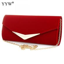 Clutch Bag Red Party Bag untuk Wanita Brand Luxury Blue Evening Bags Wanita Baguette Handbags Chain Crossbody Shoulder Bags
