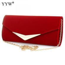Сумка сцепления Красная сумка для женщин Бренд Роскошные синие вечерние сумки Женские сумки для багета Цепные плечевые сумочки