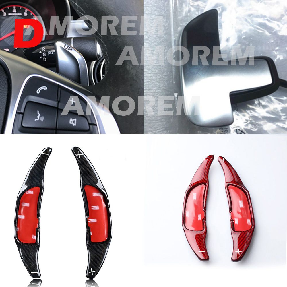 Carbon Fiber Steering Wheel Shift Paddle Extension Shifters For Mercedes Benz AMG A45 CLA45 C63 S63 GLA45 GLS63 GLE63 2015-2018