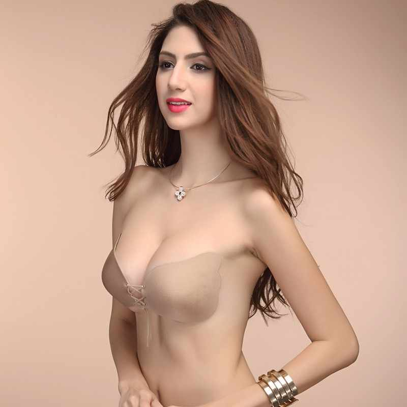 d03cefb33 ... Sexy Gel Silicone Push Up Self Adhesive Strapless Bra Bandage Stick  Invisible Seamless Backless Bra 2 ...