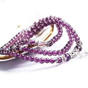 Image 2 -   Fine Jewelry Hot sale! 6mm Crystal Stone 108 Prayer Beads Mala Bracelet Necklace