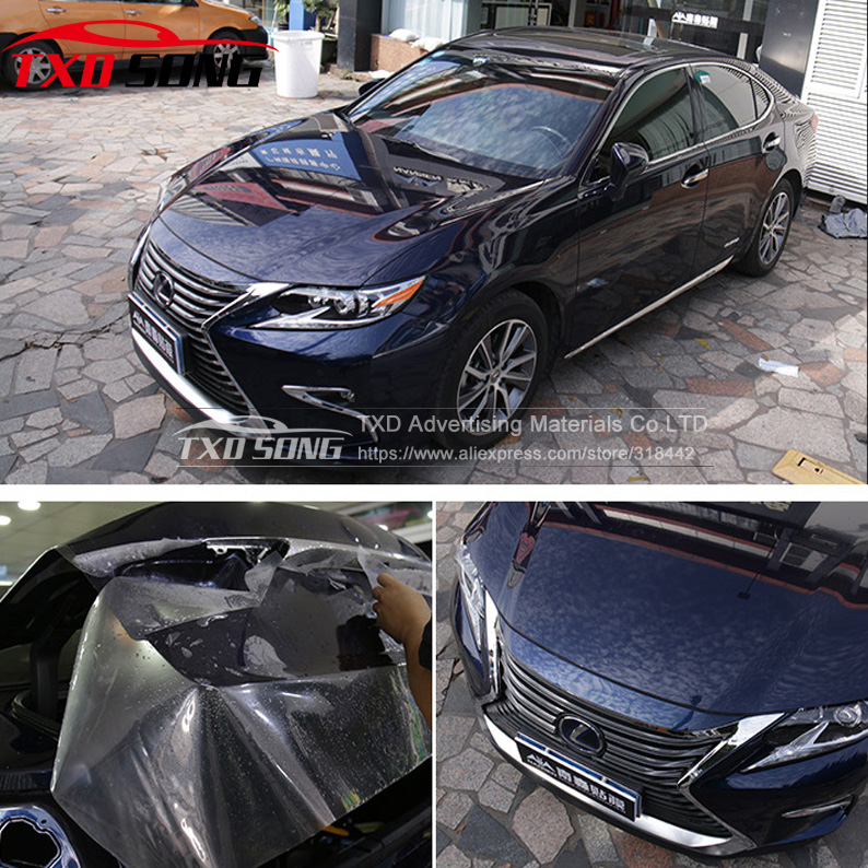 SIZE:1.52*30M/Roll 3 Layers Transparent Car Bra Paint Protection Film For Car Wrapping Clear Auto Vechice Protect Film