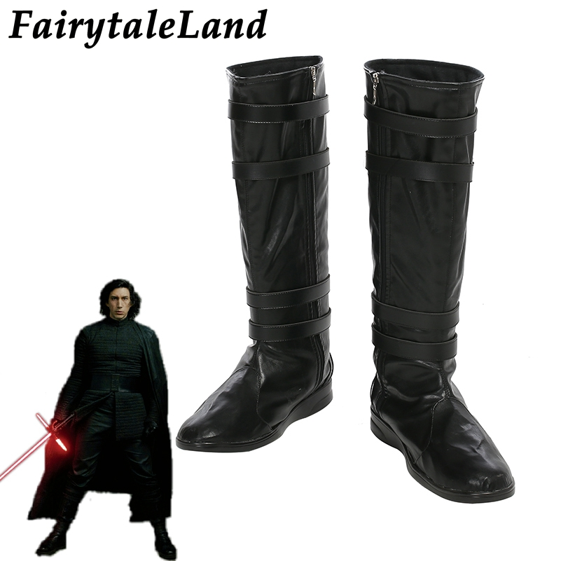 Star Wars Darth Vader Kylo Ren Batman X-men Black Boots Cosplay Shoes