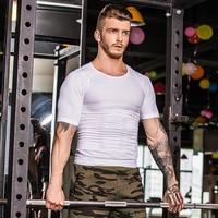 ESHINES Running T Shirts Quick Dry Slim Fit Tees Men Compression Shirt Tops Fitness Gym O Neck Short Sleeve T Shirt Dropship