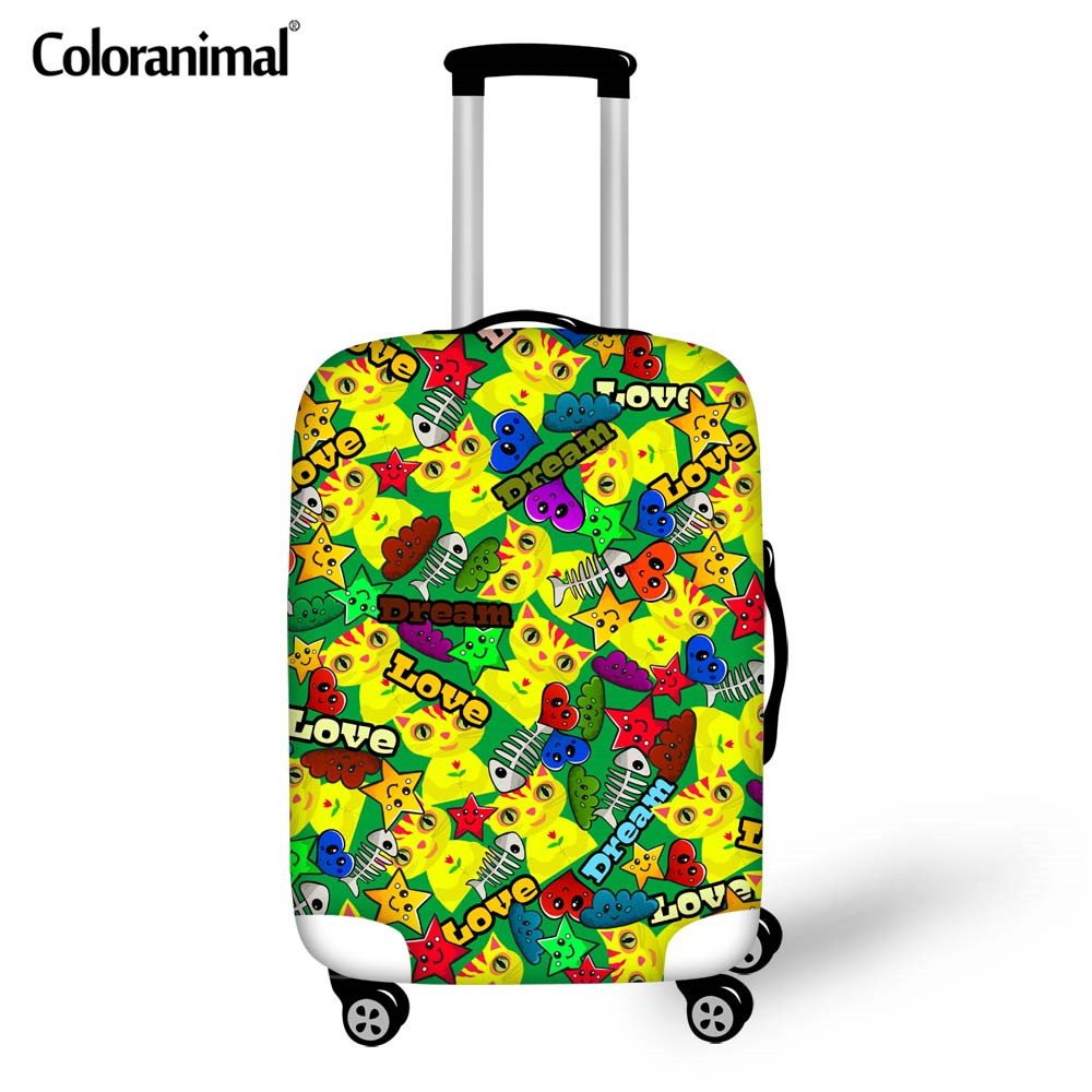 Coloranimal Travel Accessories Luggage Cover For 18-30 Inch Star Puzzle Suitcase Elastic Thick Covers With Zipper Dust Case Bags
