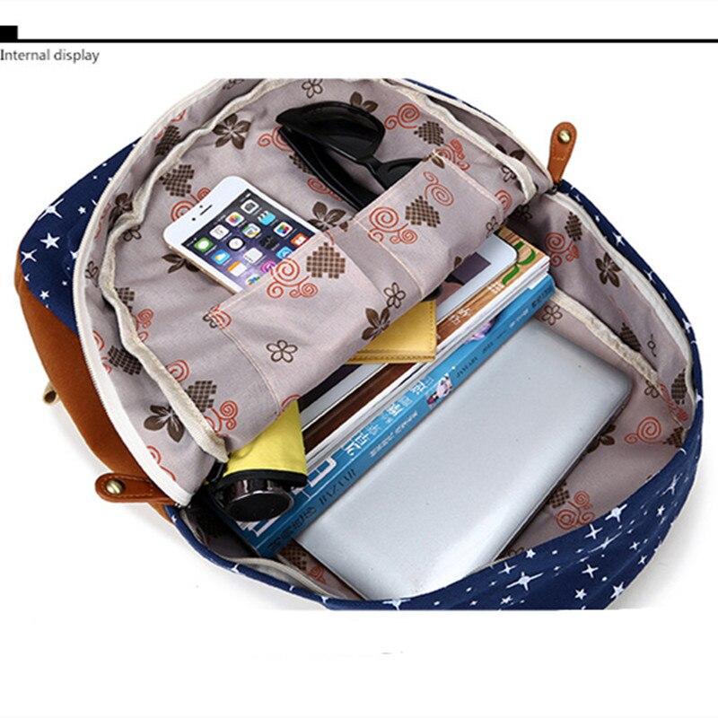 ee160318aa7b Miwind Лидер продаж холст Для женщин рюкзак большой Ёмкость Школьные ранцы  для подростков с принтом Рюкзаки для Обувь для девочек Mochila Escolar  cb189 ...
