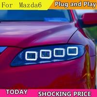 Car Styling for Mazda 6 full LED Headlights 2004 2014 Mazda6 LED DRL LED High Low Beam Headlight with dynamic turn signal