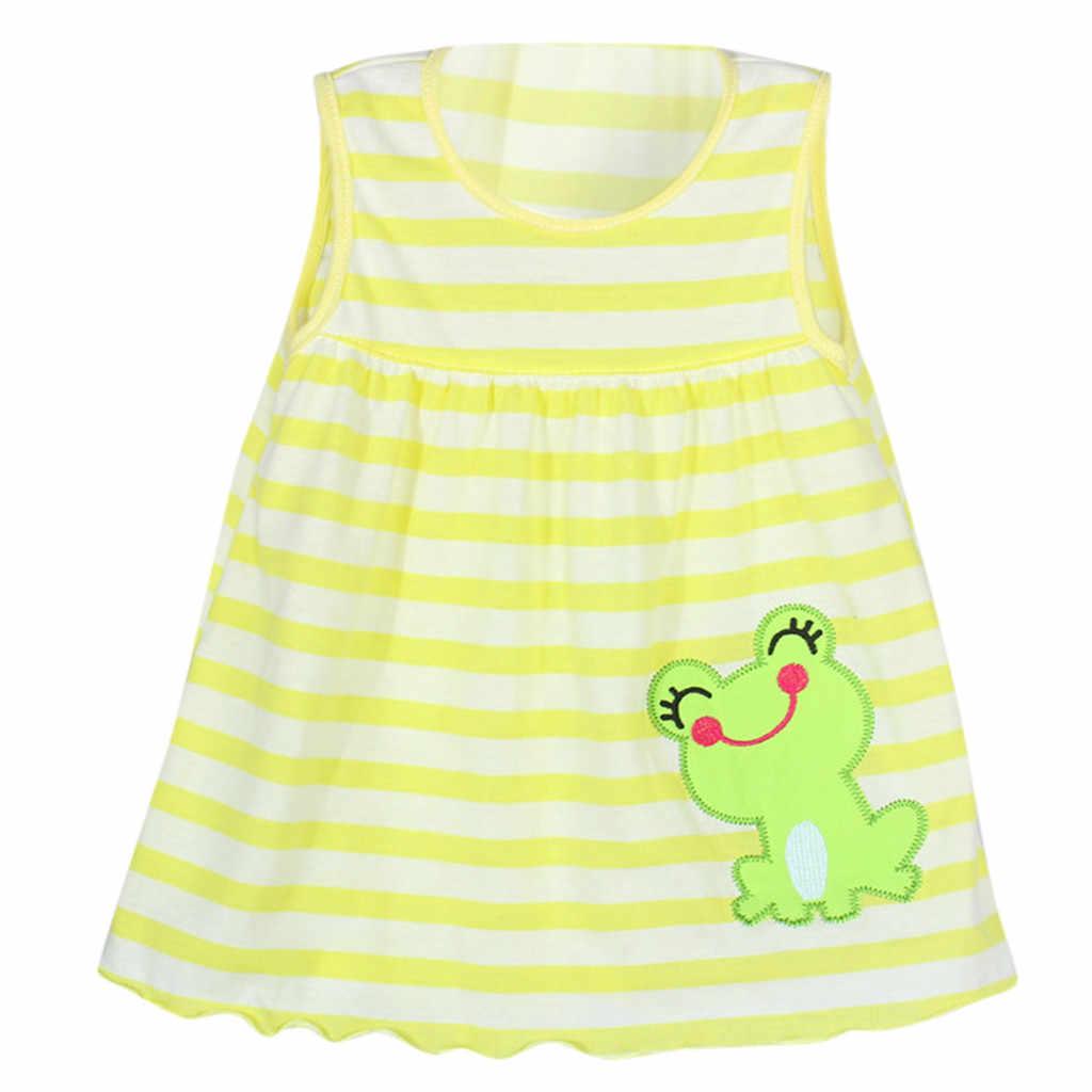 เด็กวัยหัดเดินเสื้อผ้าเด็กฤดูร้อนเด็กสาวเด็กทารกการ์ตูนเด็กดอกไม้ Dot ดอกไม้ Tees เสื้อยืดเสื้อกั๊ก
