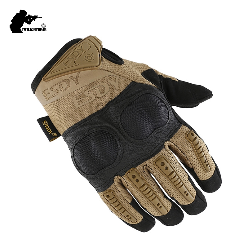 New Seal Tactical Gloves Military Super Fiber Protective Wearproof Full Finger Glove Outdoor Climbing Riding Gloves AE005