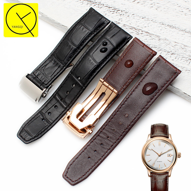 Genuine Calf Leather Strap for Maurice Lacroix PONTOS MASTERPIECE Watchband Waterproof Black Brown Watchband Watch PT6158 MP6607 maurice lacroix pontos pt6158 ps101 13e 2