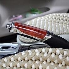 Универсальные модные Автомобильные украшения, деревянные противоскользящие Ручные тормозные Чехлы, автомобильные воротники переключения передач для Honda Toyota VW hyundai(1 шт
