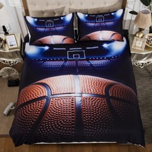 Bedding Sets 2/3pcs 3D Duvet Cover Bed Sheet Pillow Cases Size EU/CN/US Queen King Flame Baseball Drop Shipping Basketball(China)