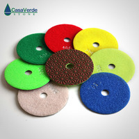 Free shipping dry diamond polishing pads 100mm 4 inch good quality for stone working without water