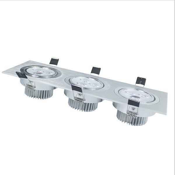 9w led downlight AC85-265V 900lm led spot Energy Saving recessed ceiling lamp led ceiling downlight free shipping