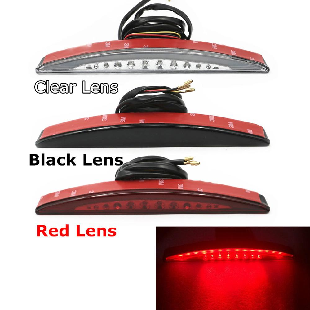 Rear Taillight Lamp Fender Tip LED Tail Light Red/Black/Clear Lens for Harley Softail Breakout FXSB 2013-2017 2016 2015 2014 free shipping new front fender tip light red lens for flstc heritage softail classic electra glide