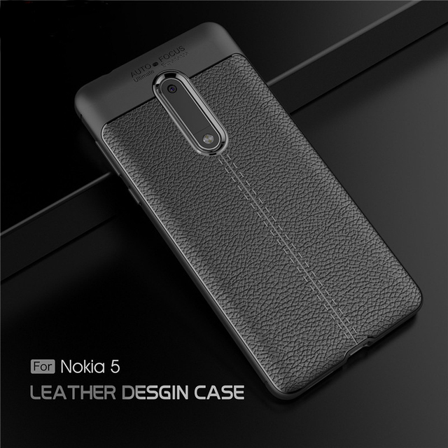 newest a843e f00d4 US $3.11 20% OFF|VOONGSON Case For Nokia 5 Retro ShockProof Soft Silicone  For Nokia 5 Cases Nokia5 Cover Phone Protector Business TPU Protection-in  ...