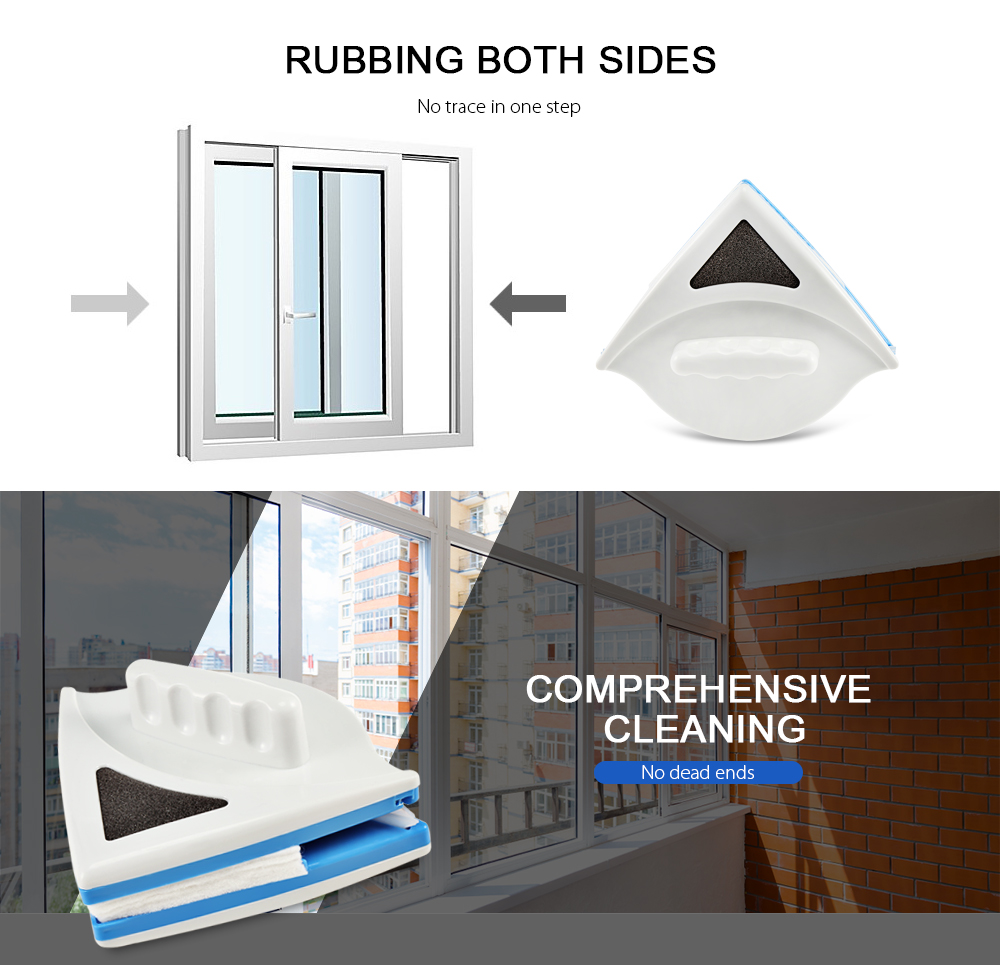 Household Double-Sided Magnetic Glass Wipe Brush And Glass Cleaner For Washing Windows 3