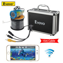 Free shipping!Eyoyo 15M Fish Finder 2.4G WIFI Wireless Monitor Waterproof Underwater Fishing Camera