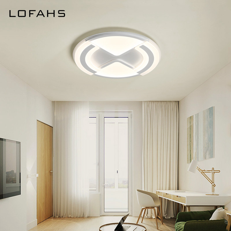 LOFAHS Modern LED ceiling lights for living dining room bedroom study with remote dimmable ceiling lamp fixtures black or white rectangle living room bedroom modern led ceiling lights white color square rings study room ceiling lamp fixtures