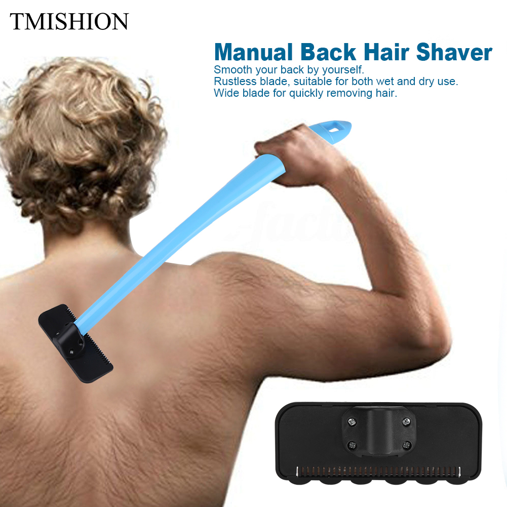 Manual <font><b>Back</b></font> <font><b>Hair</b></font> <font><b>Shaver</b></font> Do-it-yourself Body <font><b>Hair</b></font> Remover Razor Plastic <font><b>Long</b></font> <font><b>Handle</b></font> Big <font><b>Blade</b></font> Removal + <font><b>Replaceable</b></font> Shaving Brush