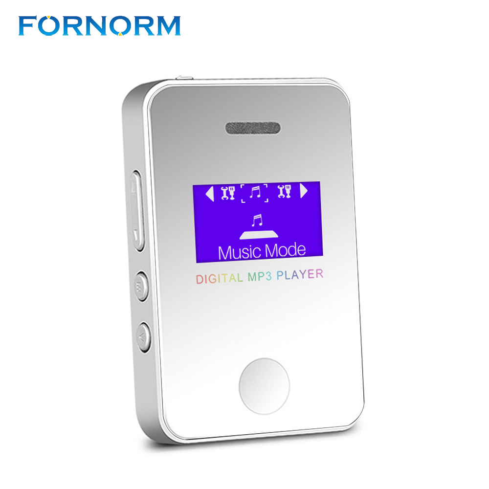 FORNORM Mini MP3 Player 1.1Inch Screen Sports Portable MP3 Music Player Media Player For Running Supports 16GB Micro SD portable media player