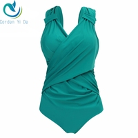 One Piece Swimwear Women Plus Size Push Up Swimsuit V Neck Design Bandage High Quality Summer